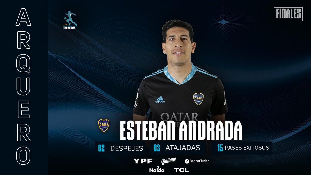 ✅ #TOP   Esteban #Andrada elegido por la @LigaAFA como el mejor arquero de la Copa #DiegoMaradona   💪 🔵🟡🔵