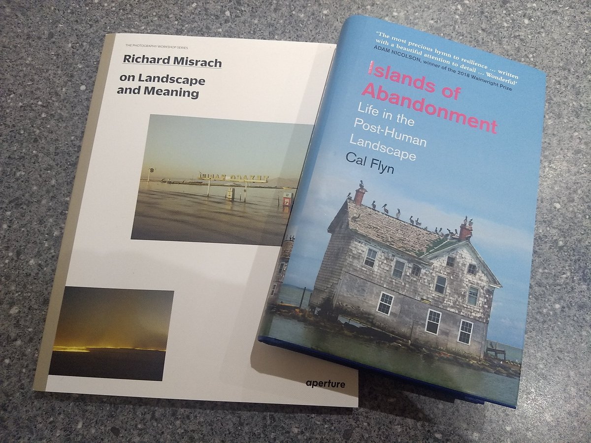 New and excellent books out today that I highly recommend.   'Islands of Abandonment - Life in the post human landscape' by @calflyn and Richard Misrach discusses his lifetime of work in 'landscape and meaning' by @aperturefnd.   #amreading #photography #landscape