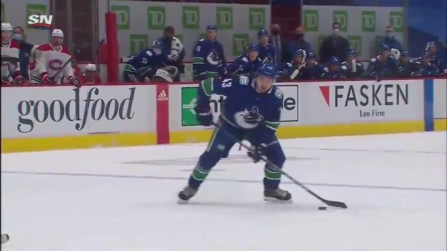 Despite Toffoli's hatty, the Canucks come away with the win 🔥   #Canucks - 6 ◾️Boeser + Miller = 6 points ◾️Horvat: 3 points  #GoHabsGo - 5 ◾️Toffoli: 3 goals ◾️Kotkaniemi: 2 points  #NHL #NHLFaceOff #MTLvsVAN