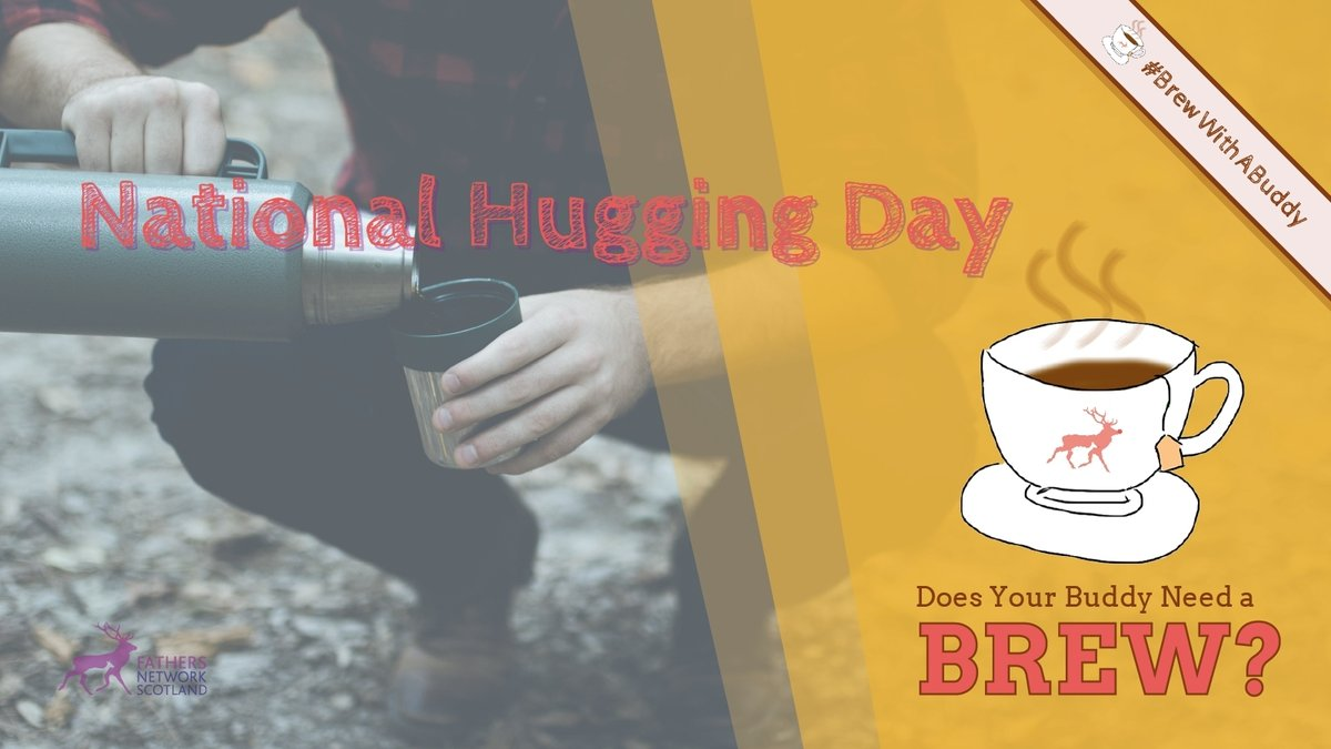 Today is #NationalHuggingDay & although we sadly can't give friends a hug in person, we can give them a virtual hug by checking in with them with a call. Why not have a #BrewWithABuddy; it's definitely better than nothing, especially when a lot of us are feeling a bit low 🤗 ☕.