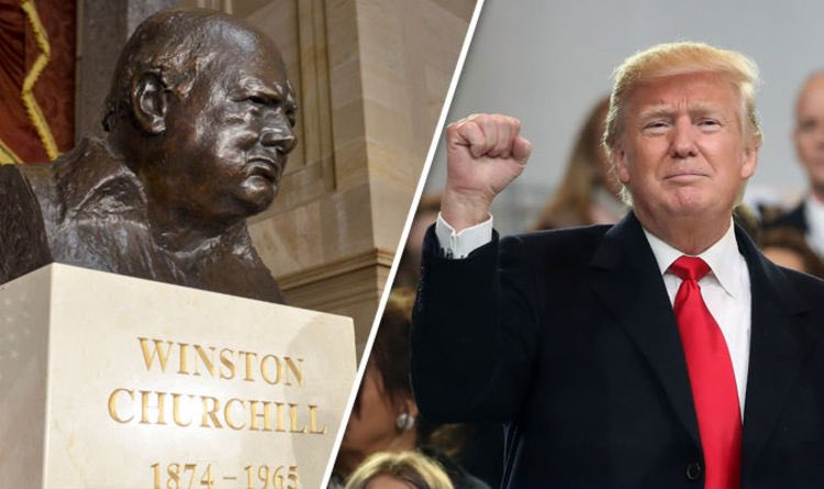 Hard left Biden has removed Churchill . So let's get this all over twitter.