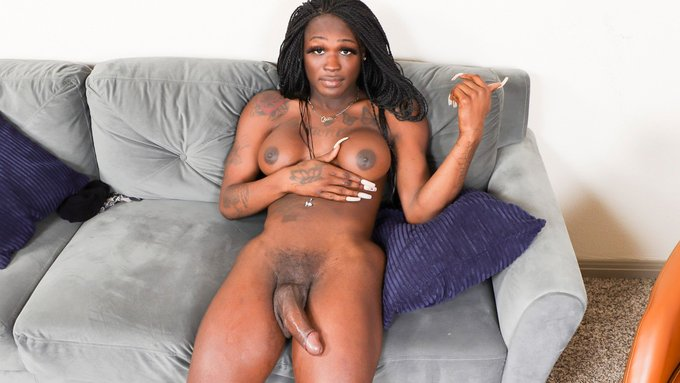 New today on on Black TGirls - Climax Thursday: Erica Lewinskeet! Visit the site for free preview video