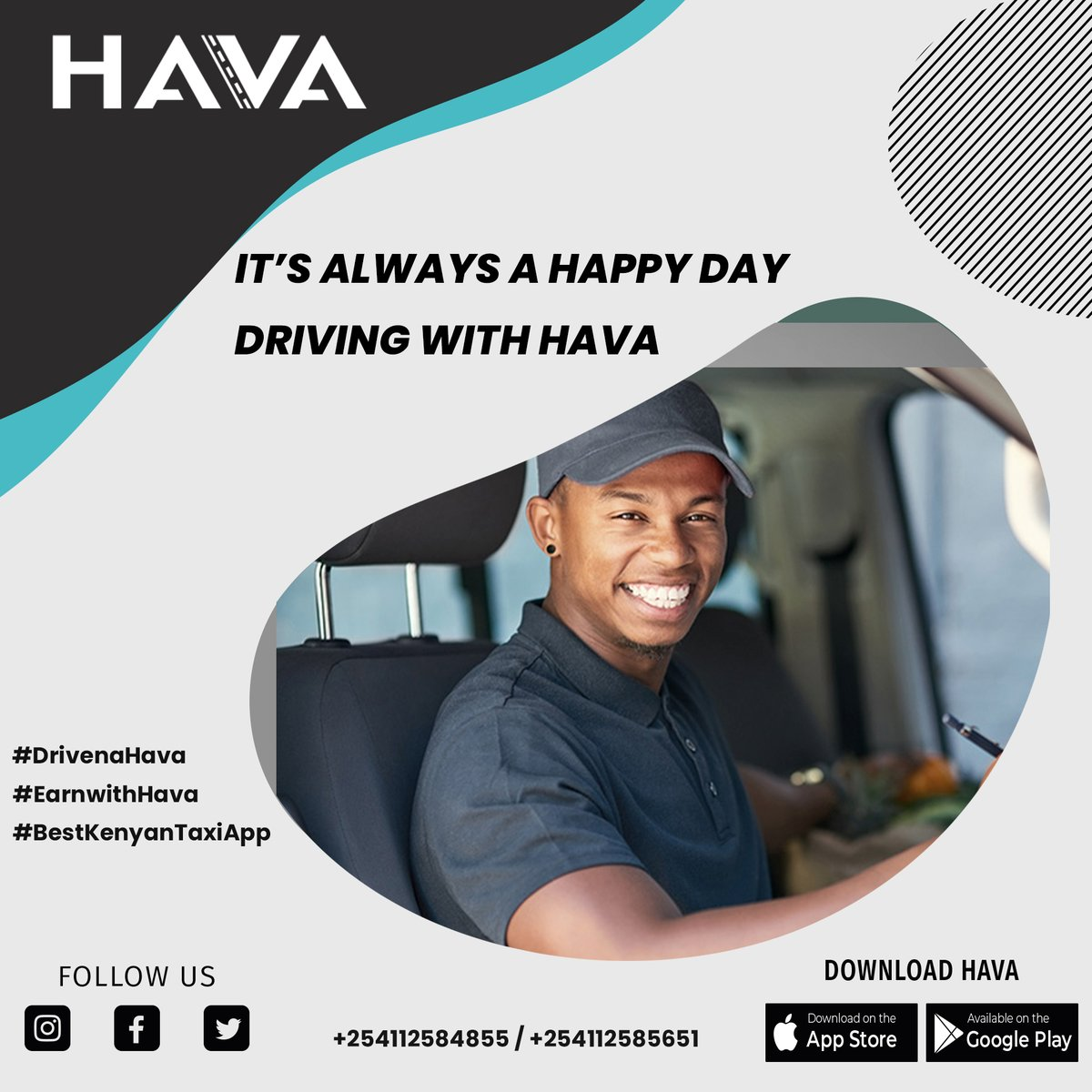 Have you partnered with Hava? Drive with Hava and earn leo, make doh na Hava!  #downloadhava #drivenahava #ridenahavacab #ReferAndEarn #hava #downloadhava #taxiservices  #technology #taxiapp #nairobi #mombasa #kisumu