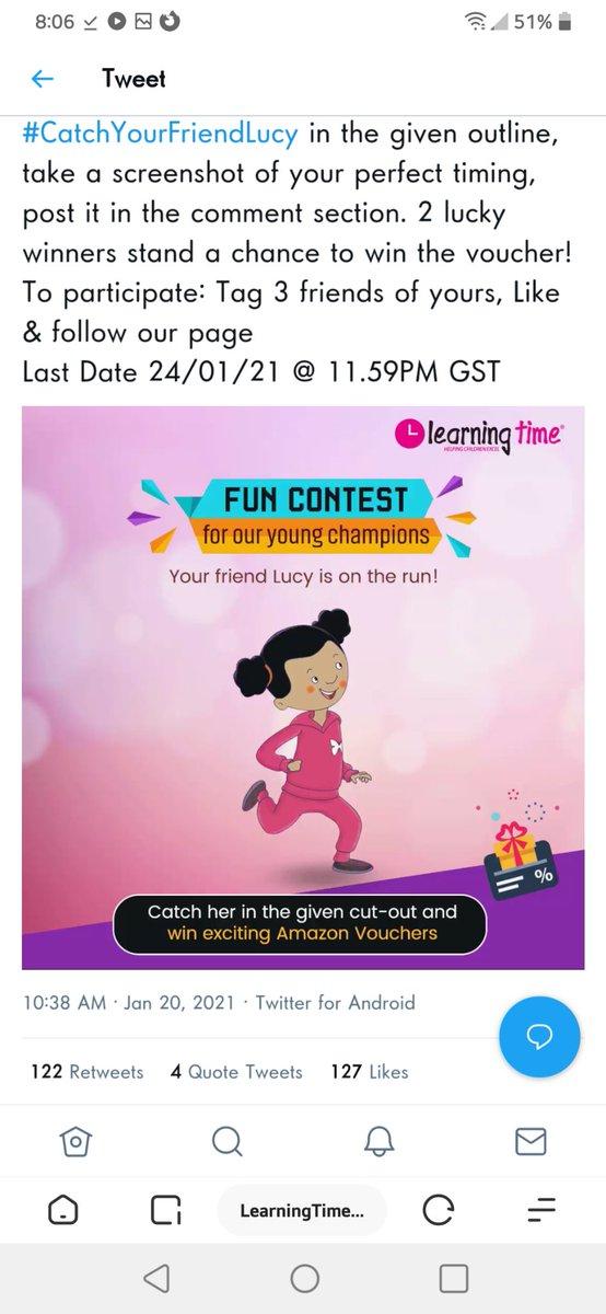 @LearningTyme Here is my screenshot @LearningTyme of #CatchYourFriendLucy in the given outline join @Neels1O1 @Cool_bindra @dethadi_ @SJ_0016 @shubhamanyu @vc16898 @pank_10 @abha_mishra19 @Tuaa74 @Deep_Youu @kusumsolanki17 @Barbiegiri_ @iMRobii