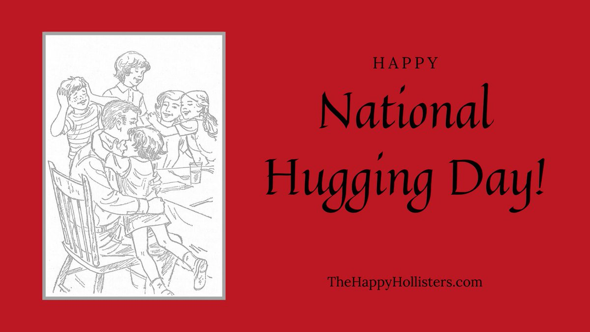 Celebrate #NationalHuggingDay today with a great big hug for someone you love!