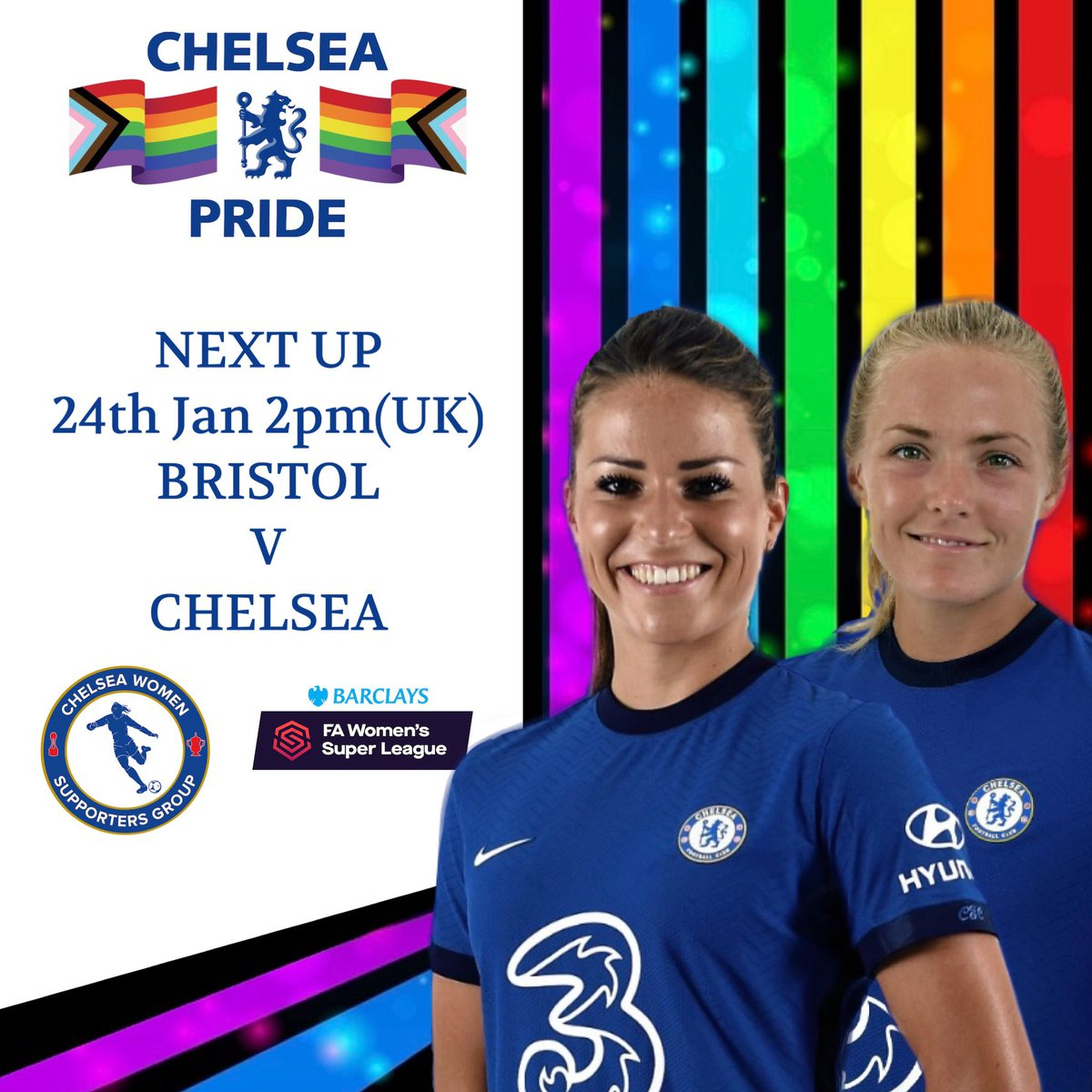Next up for our mighty #CFCW is the #BarclaysFAWSL fixture v Bristol.