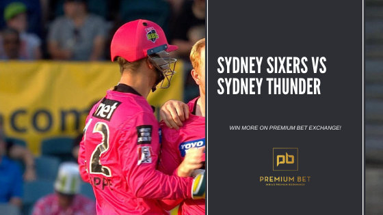 Sydney Sixers vs Sydney Thunder Fr 22 January 08:15  GET MORE VALUE!  Bet365 offering Sydney Sixers @ 1.72, we offer chance to back Sydney Sixers on Premium Bet Exchange @ 1.84......  See more - https://t.co/nl9LBYUslr https://t.co/lqZnxuBBYt