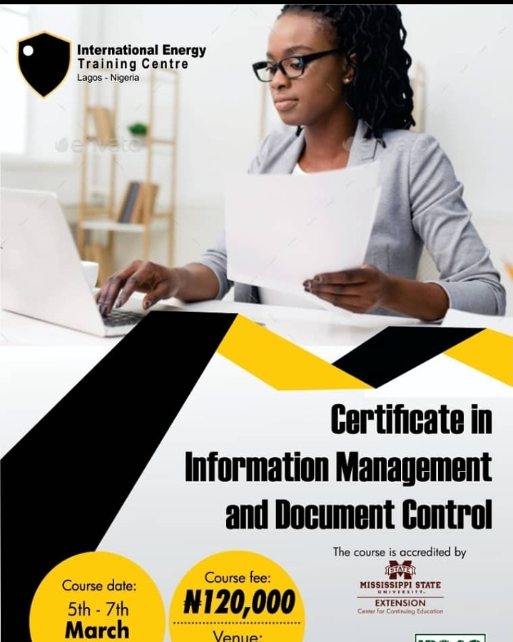 Stay ahead in your career by joining our Certificate in Information Management and Document Control class starting March.   Registration is ongoing now via  #HigherEducation #DefendAcademicFreedom #thursdayvibes #ThursdayFeeling