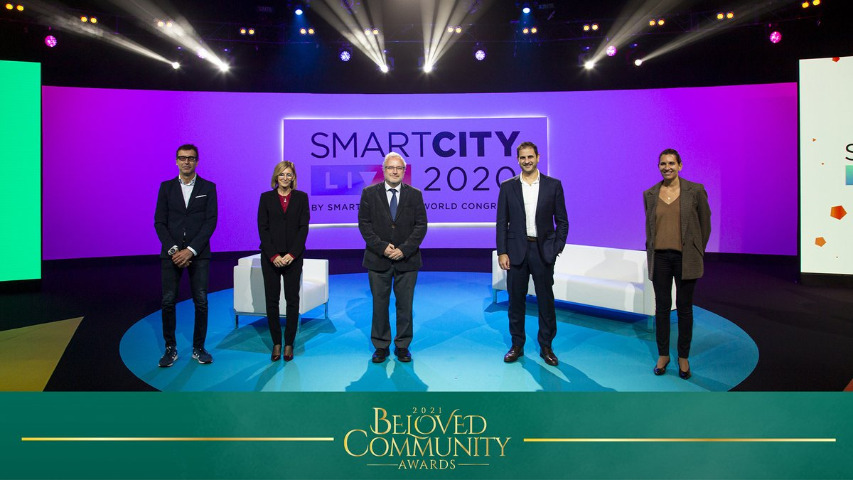 .@SmartCityexpo, the leading international summit on #cities and #smart urban solutions organized by Fira de Barcelona, receives the Technology Innovation award from the @TheKingCenter.  ➡️  #BelovedCommunityAwards