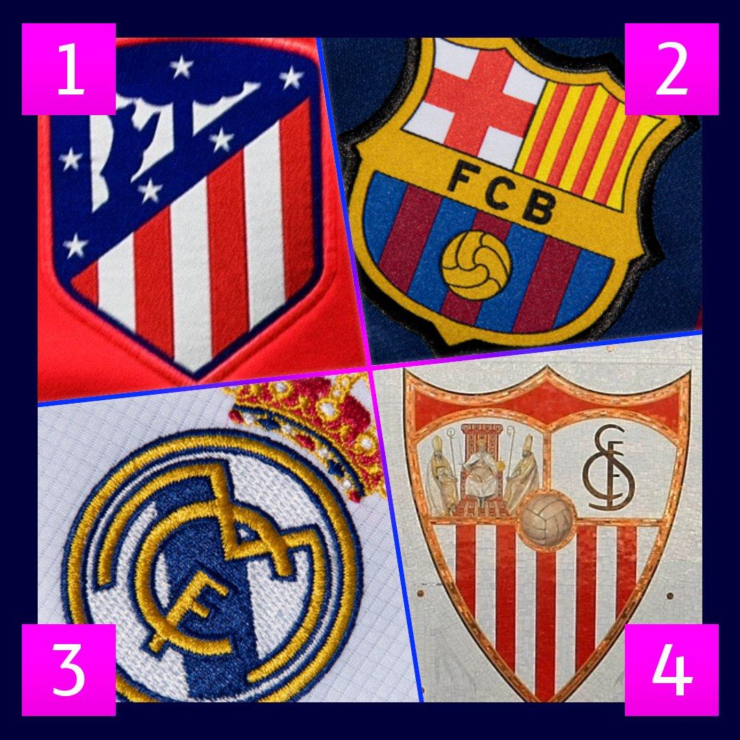 😍😍😍 ¡𝑴𝒆𝒏𝒐𝒔 𝒅𝒆 1⃣ 𝒎𝒆𝒔!  La Champions League está a la vuelta de la esquina...  🤔 ¿Quién llegará más lejos?  1⃣@Atleti 2⃣@FCBarcelona_es  3⃣@realmadrid  4⃣@SevillaFC   #UCL