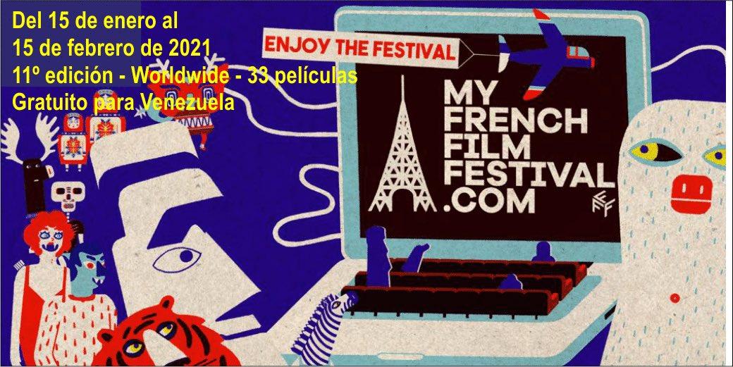 Cine Francés del 15 Enero al 15 Feb @myfff #gratis para #Venezuela