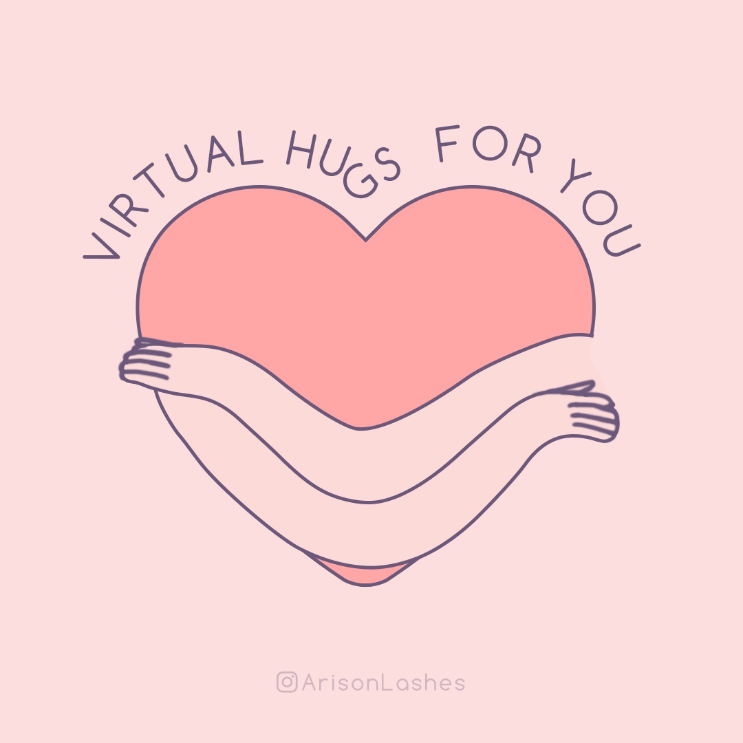 Jan 21st is a special #NationalHuggingDay. Some of us cannot hug our loved ones due to some reason.  However we can still send virtual hugs to our loved ones while keep social distance, to let them know that you're thinking about them, even when u're not there.  #ArisonLashes