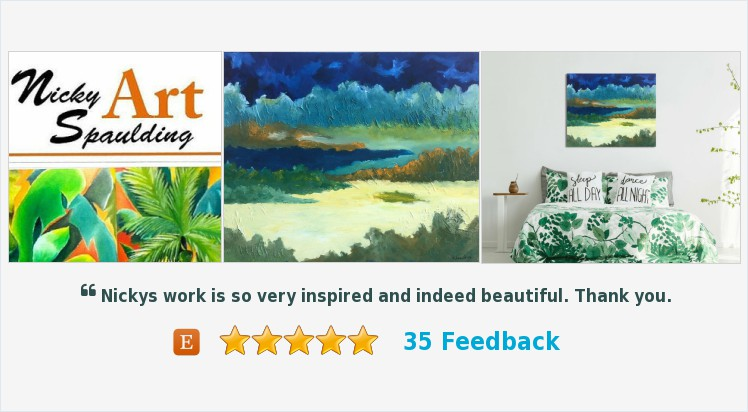 #Contemporary Art #Original Oil Painting #abstract #Landscape #Expressionistic Oil on Canvas Title: A PLACID PLACE