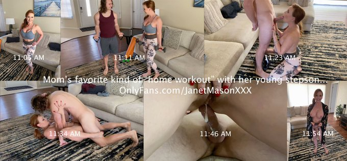 """Mom's """"home workout"""" with her young stepson went better than either of them planned. See it soon at https://t"""