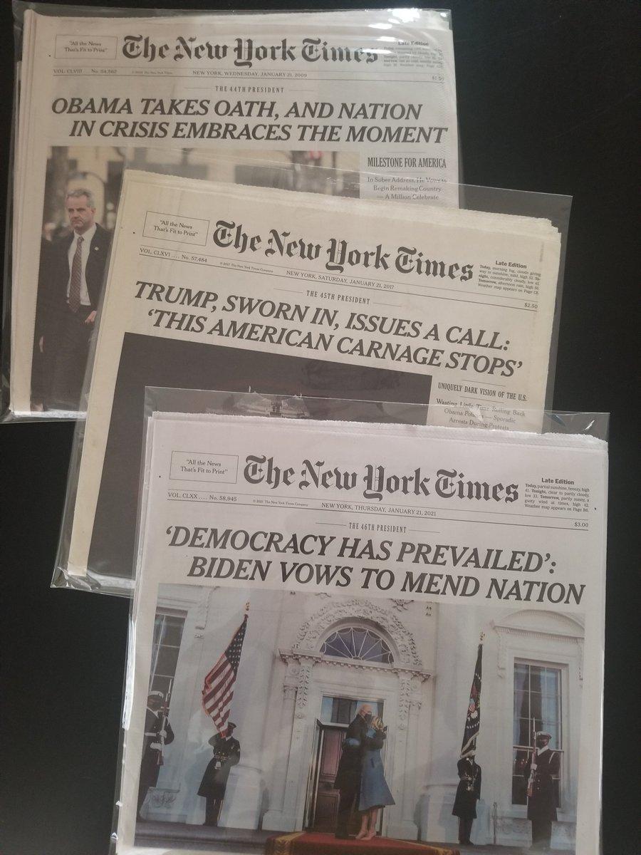 Jan. 21 headlines, 2009, 2017, 2021. https://t.co/dcKMO6pEfP