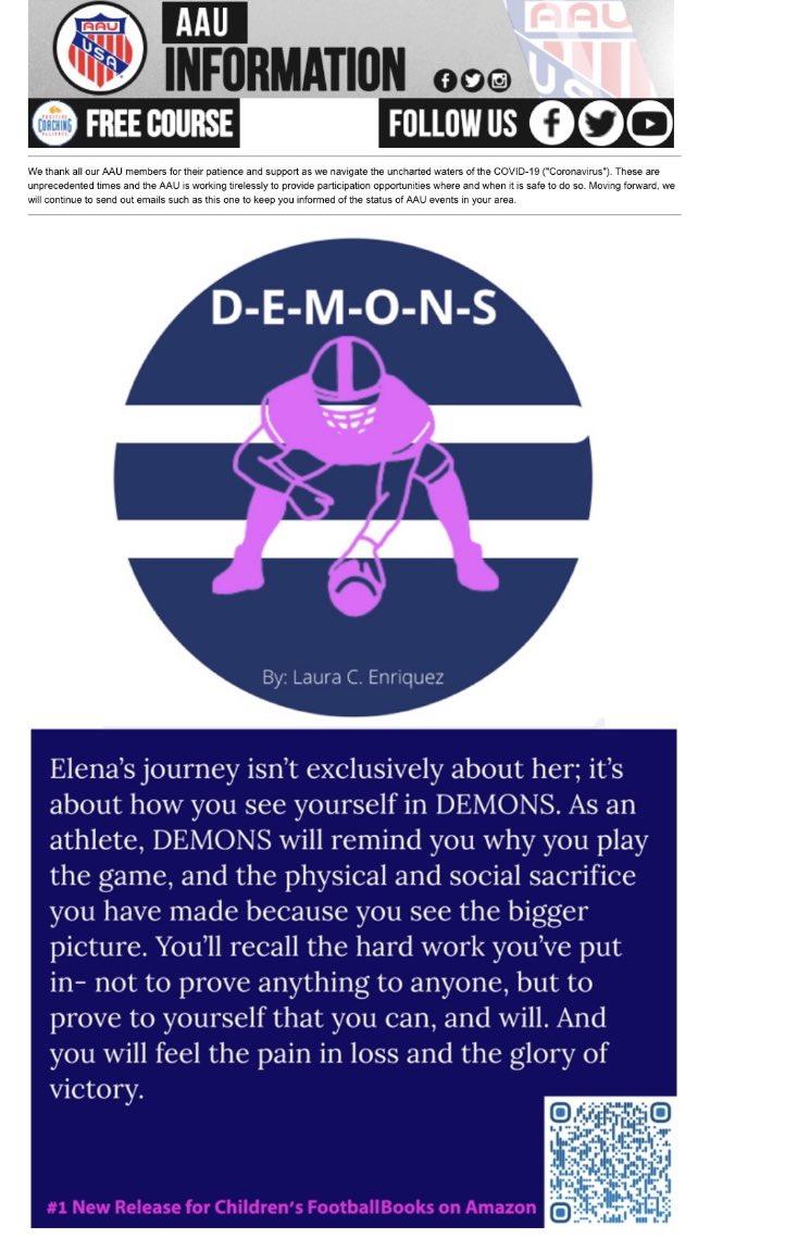 Thank you @TheRealAAU for the feature!   #weareaau #AAU #demonsnovel #playlikeagirl #believeinyourself https://t.co/vLEwzmGskz