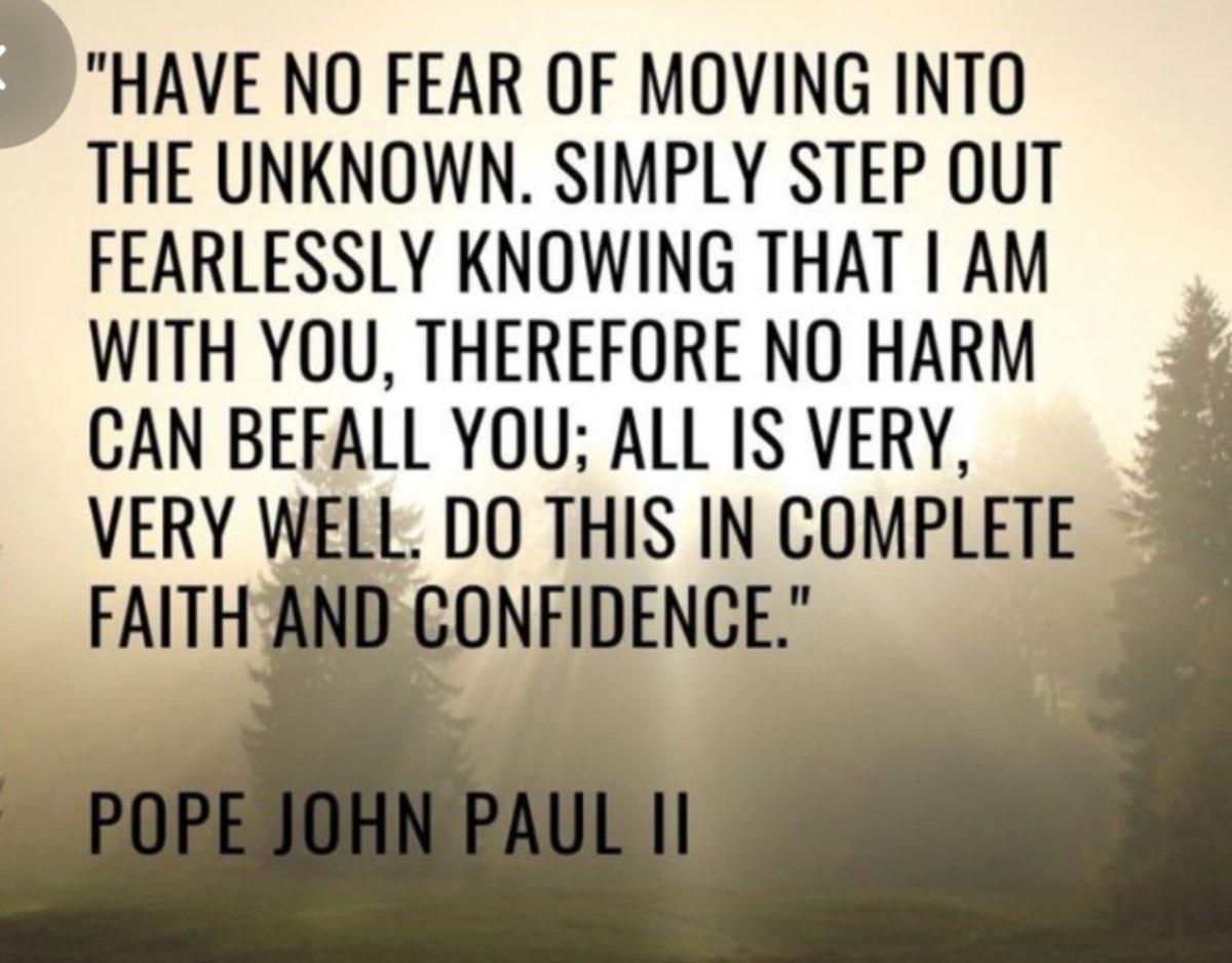 """Have no fear..."" #ThursdayThoughts #thursdaymorning #Wisdom #quotes #quotesoftheday #Catholic"