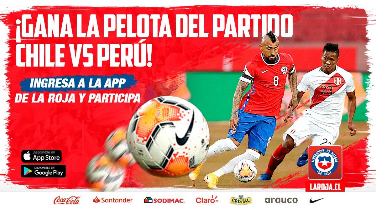 🎉 ¡CONCURSO!  ¿Quieres ganar la ⚽ de fútbol? 🇨🇱-🇵🇪 Responde nuestra trivia en la 📲 App Oficial de La Roja y ya estarás participando. 😍 Anuncio del ganador: 📌 Martes 26 de enero.  ☝️ ¿Aún no tienes nuestra App? descárgala aquí: