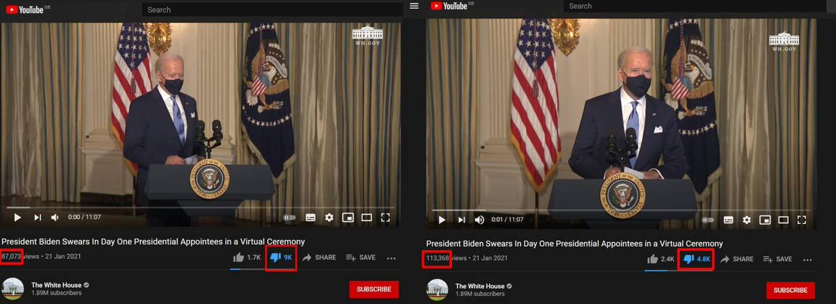 "Several thousand down votes on the inaugural YouTube video disappeared in a short period of time yesterd.... ""Look away, there's nothing to see, no evidence.."""