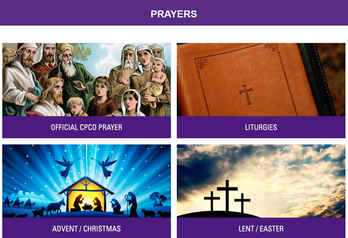 Have you ever visited the CPCO Prayers page?  Our page features Liturgies, seasonal prayers, prayers for Principals/Vice-Principals and more.     #Prayer #Pray #CatholicTwitter #Prayers #Catholic #ThursdayThoughts #ThursdayMotivation