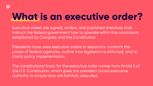 We, the people, have the power to determine who will have the authority to use the powers of the presidency.   Every executive order is a reminder of the power of our votes and the importance of voting in every election.