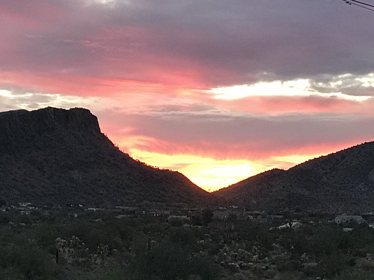 @PeteButtigieg It's been raining & overcast here in AZ so I'm using this photo taken the sunrise after the morning Joe was elected - hope that counts! Now waiting for the beginning of your hearing soon-to-be Transportation of Secretary Pete Buttieg! #SunriseCelebration