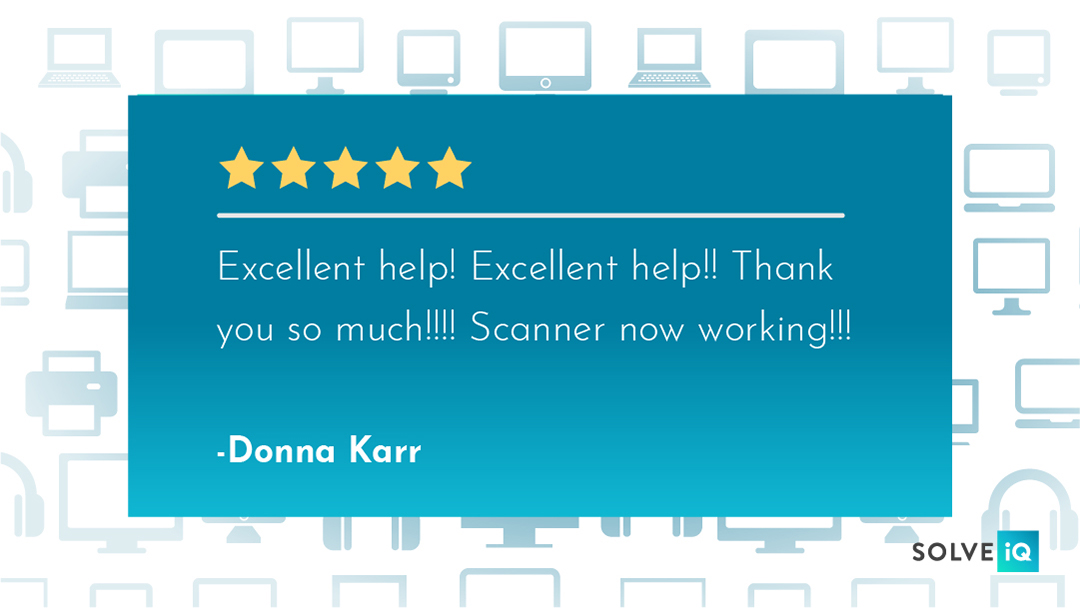 Be as excited as Donna about your scanner finally working. #ReviewOfTheWeek #techissues #CSAT https://t.co/qzeVuljHk5