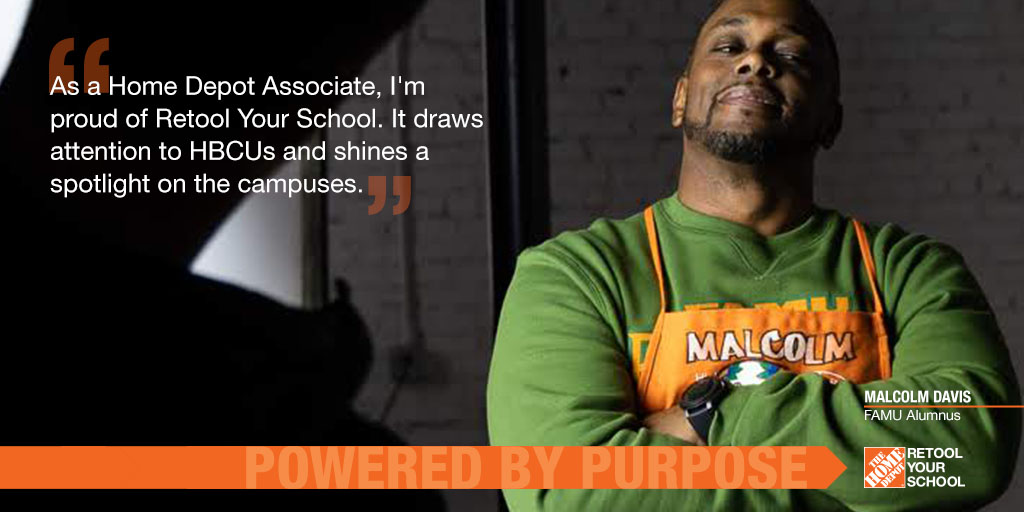 HBCUs leave a lasting impact on everyone who walks through their doors. The love and pride alumni have for their HBCUs is like no other. ❤️ And #HomeDepotRetool is just as proud to be another way alumni can give back to HBCUs what they've given so many. #HBCULoveLetter https://t.co/VWGcwsvA84