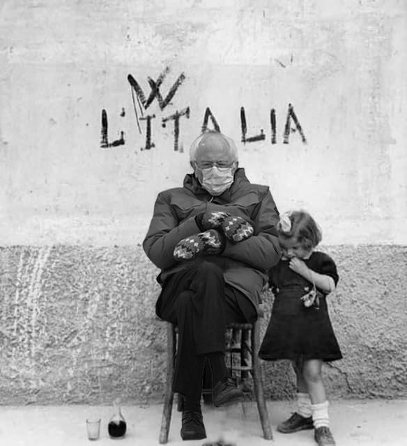 Il 25 Aprile 1945 - Italy  #BernieSanders #BernieSandersMittens #Bernie #berniesmittens #Inauguration2021 #Berniememes #BernieMeme #25aprile
