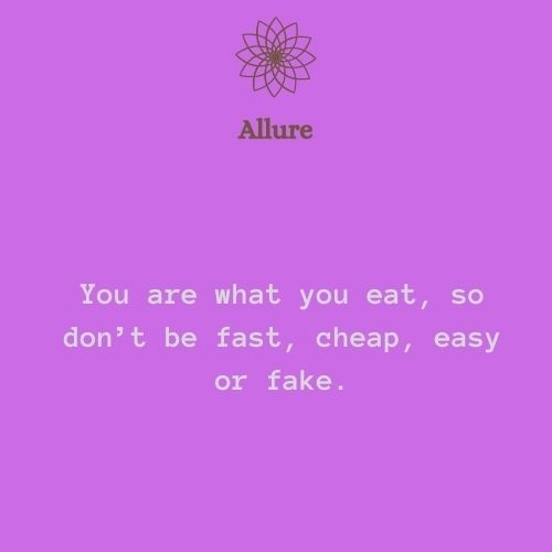 """""""You are what you eat, so don't be fast, cheap, easy or fake."""" - Total Wellness  #wellness #health #fitness #healthylifestyle #selfcare #love #motivation #yoga #beauty #mentalhealth #healing #selflove #nutrition #skincare #wellbeing #gym #relax #fit #bhfyp"""