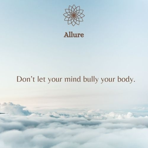 """""""Don't let your mind bully your body."""" - Total Wellness  #wellness #health #fitness #healthylifestyle #selfcare #love #motivation #yoga #beauty #mentalhealth #healing #selflove #nutrition #skincare #wellbeing #gym #relax #fit #bhfyp"""