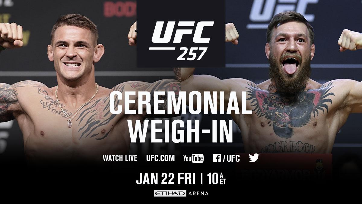 Streaming Friday morning 📱 You don't want to miss this!  [ #UFC257   #InAbuDhabi   @VisitAbuDhabi ] https://t.co/Sy1IT3VwTo