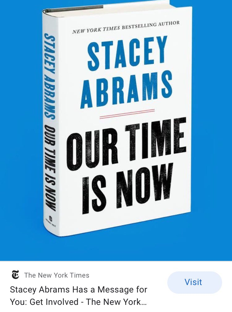 Today is the perfect day to read this book! 🎧 Or listen to ⁦@staceyabrams⁩ on ⁦@audible_com⁩ #fairfight ⁦@fairfightaction⁩