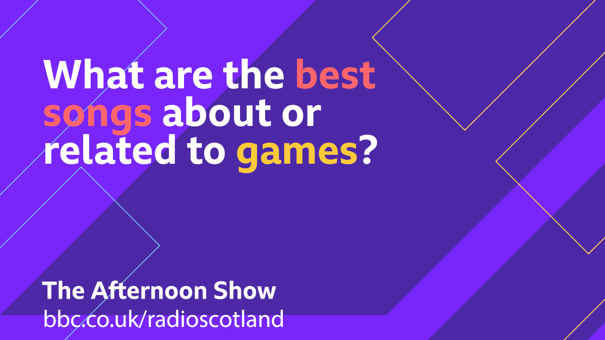 Later @GrantStottOnAir is chatting to David Ross about his book which follows a former footballer who returns to his village after a career-ending injury  So for our Topical Tune we are looking for songs about games.  #TheAfternoonShow from 13:30