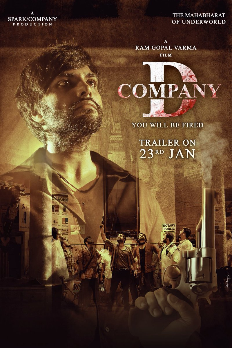 #DCOMPANY THE MAHABHARAT OF UNDERWORLD.... Trailer will be OUT on 23 Jan @ 11AM . Directed by @RGVzoomin