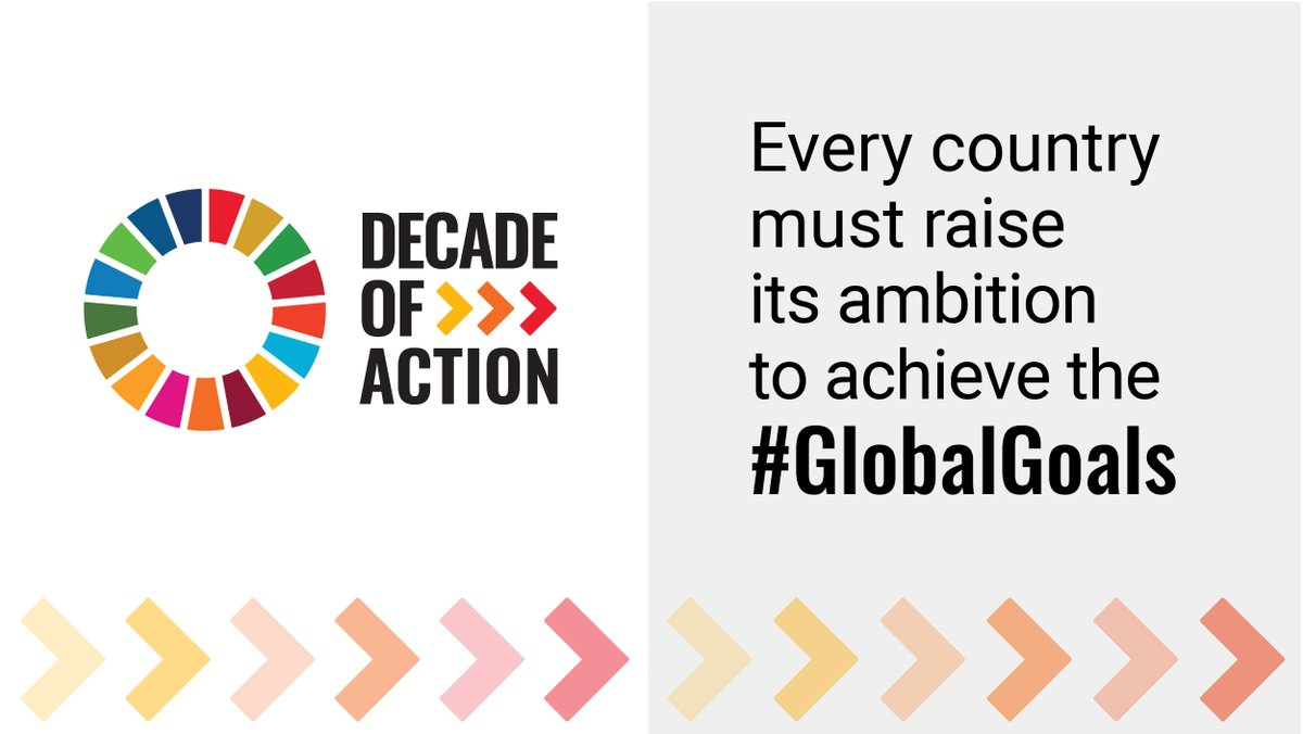 The #GlobalGoals are our shared vision and collective responsibility to build a peaceful and sustainable world. Every country must raise its ambition to achieve the #GlobalGoals !  Let's make this a the Decade of Action!  🔗