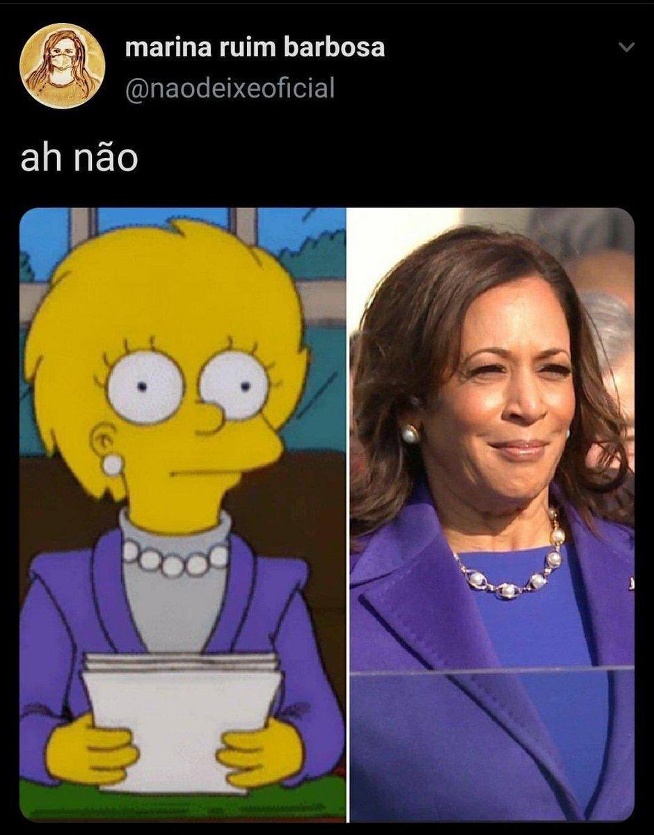 E lá vem os #Simpsons #KamalaHarris #JoeBidenInauguration #CelebratingAmerica #PosseBiden