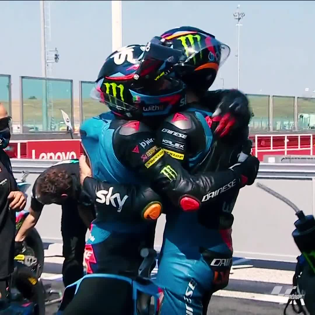 Happy #InternationalHuggingDay! 👐  We can't wait until the day we can hug each other once again! 🤗  #MotoGP