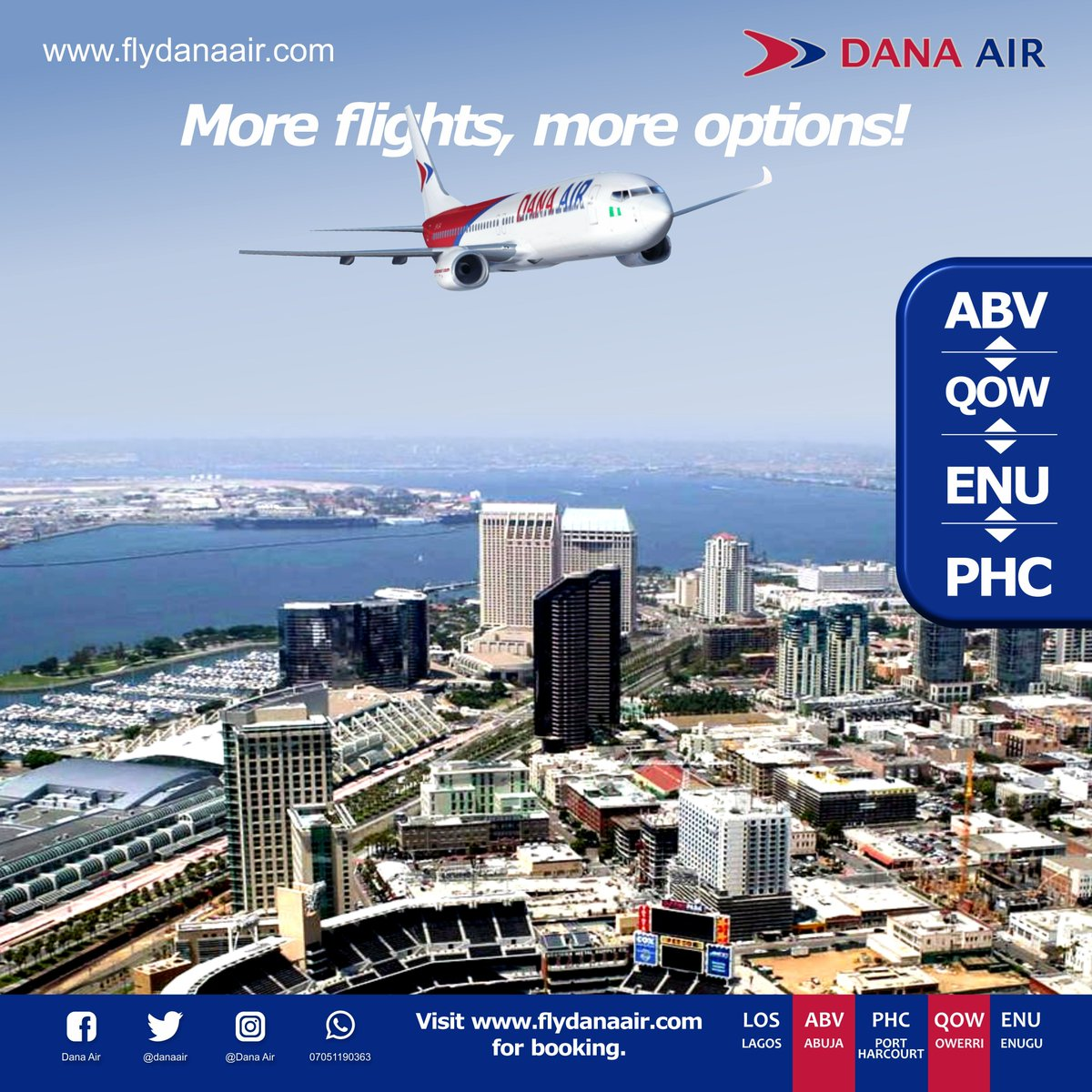 More flight options available for your convenience. Tickets are available for booking on  #thursdayvibes #thursdaymotivation #aviation #aviationlovers #travel #abuja #lagos #enugu #owerri #portharcourt