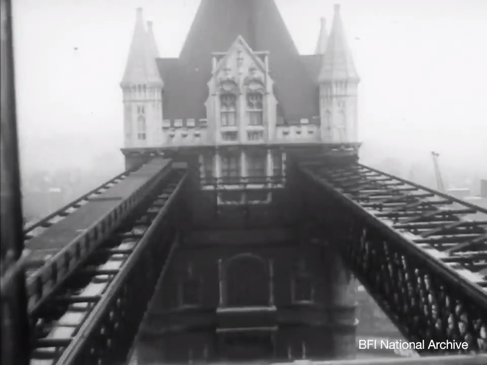 A beautiful and evocative look at @TowerBridge from the 1957 film Ten Bridges, available to watch for free on BFI Player    #BritainOnFilm #MyTowerBridge