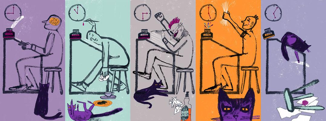 The Creative Process - @jillcalder for @guardian ⭐ #thursdaythoughts #illustration #design