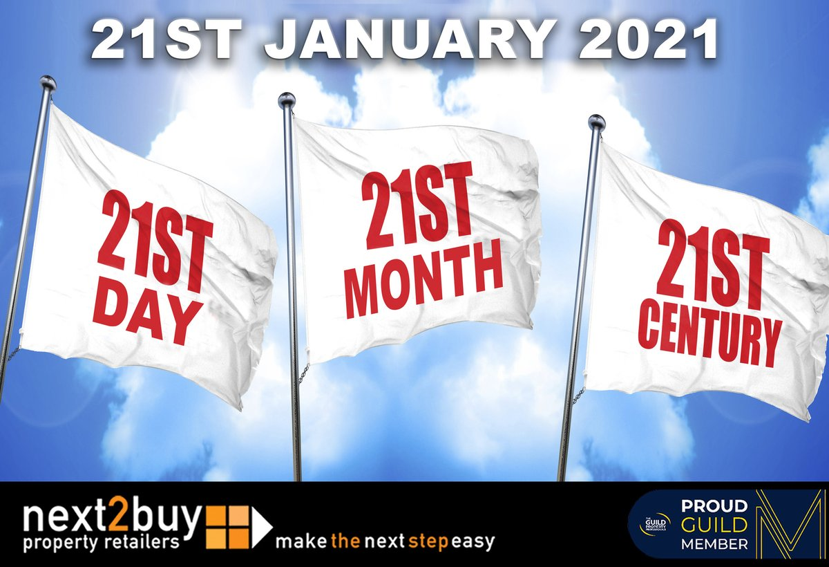 #ThursdayThoughts Today is the 21st Day of the 21st Month of the 21st Century...  www.next2buy,com  #TheGuild #Property #NorthTyneside