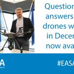 Image for the Tweet beginning: Q&A from our Drones webinars