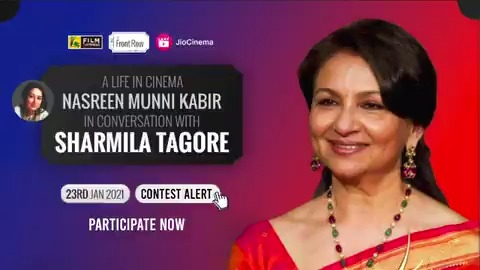 CONTEST ALERT 📣 Answer a question and win the chance to be a part of @filmcompanion's #FCFrontRow with Actor #SharmilaTagore on the 23rd of Jan😁 STAY TUNED❗️  #filmcompanion #contest #contestalert #contestalertindia #contestgiveaway #contests #contestagram