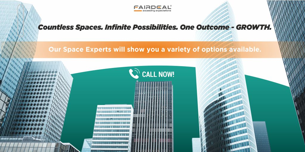 Talk to our Space Experts at 8080400500. Make sure to check our website at   #fairdeal #indianentrepreneur #indianentrepreneurs #indianbusiness #indiabusiness #indiancompany #officespace #indianrealestate #spaceexpert #startupindia #madeinindia #makeinindia