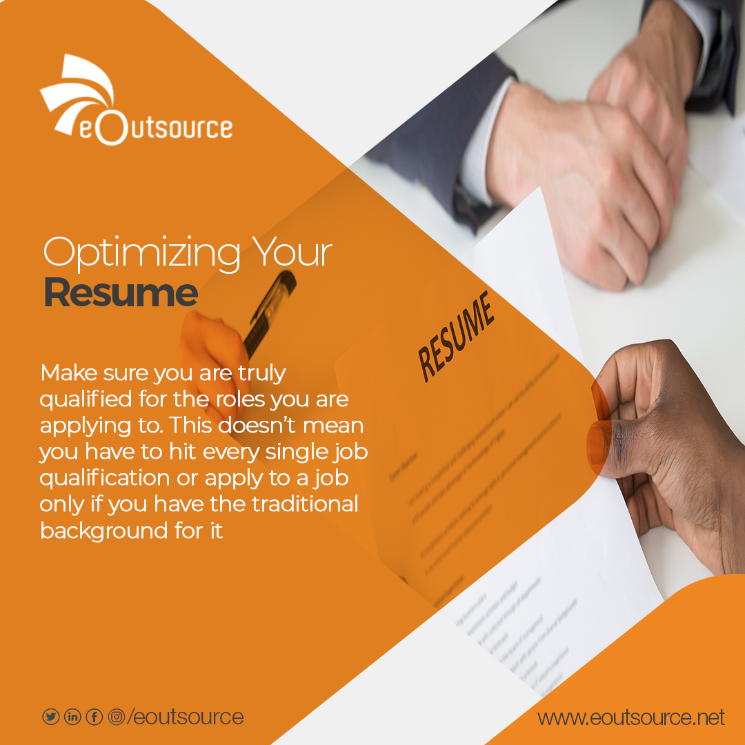 Do apply only to roles you are qualified for.  #eoutsource #outsourcingservices #staffing  #ThursdayThoughts #interviewtips