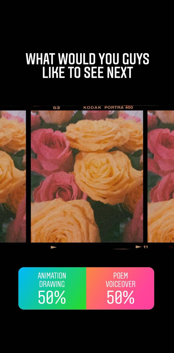 The results are 50/50 so far, dont forget to vote/comment on what you'd like to see next!  #vote #film #Instagram #ROSE #Punjab #poem #animation #filmpage