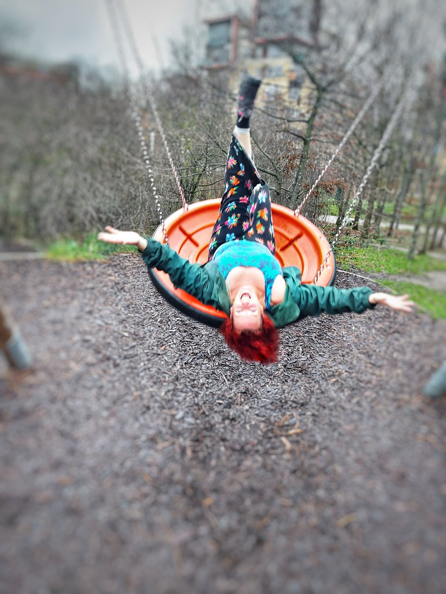 My daughter and I taking turns pushing each other on the swing on our walk yesterday  We got a little wild and silly. Great fun  Unkind comments not welcome! Seems I have to explicitly specify this  #swing #motherdaughter #fun #play #playtime #mentalhealth #havingfun