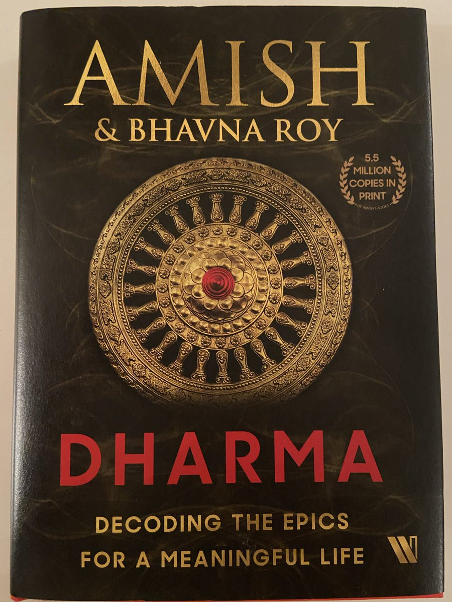 """""""Rightful dharma is empowering, not debilitating"""".  Thanks @authoramish for an incredibly enlightening & easy read — one of those books you just can't put down after picking up 🕉"""