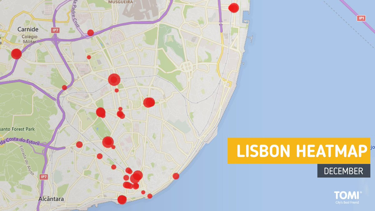 The role of TOMI heatmaps in preventing the spreading of Covid-19  In the images, it is possible to see two heatmaps of three different cities during the month of December - Lisbon and Rio de Janeiro. Check more about the topic, here:   #TOMI #Smartcities